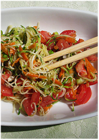 Raw food weekend zucchini pasta salad with lime dressing zucchini pasta salad with lime dressing forumfinder Choice Image
